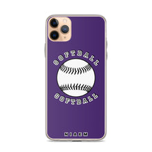 Load image into Gallery viewer, Softball iPhone Case (Purple)