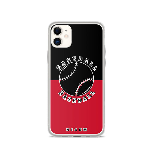 Baseball iPhone Case (Black & Red)