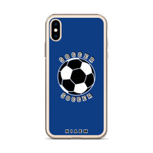 Load image into Gallery viewer, Soccer iPhone Case (Blue 2)
