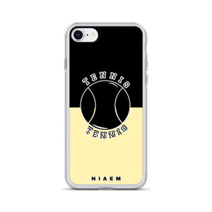 Tennis iPhone Case (Black & Yellow 2)