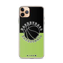 Load image into Gallery viewer, Basketball iPhone Case (Black & Green 3)