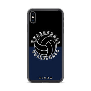 Volleyball iPhone Case (Black & Navy)