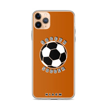 Load image into Gallery viewer, Soccer iPhone Case (Brown 1)