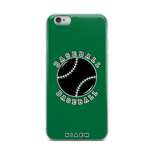 Baseball iPhone Case (Green 1)