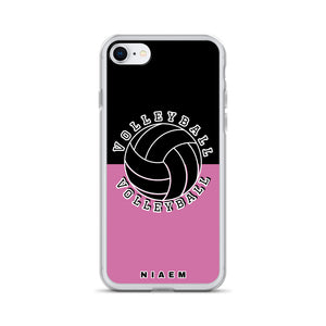 Volleyball iPhone Case (Black & Pink 1)