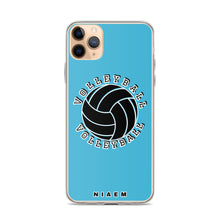 Load image into Gallery viewer, Blue volleyball iPhone 11 Pro Max phone cases