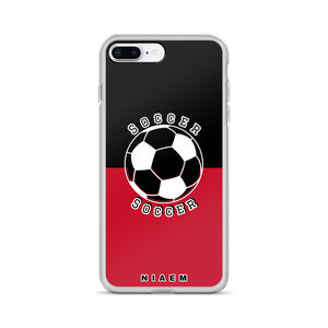 Soccer iPhone Case (Black & Red)