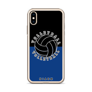 Volleyball iPhone Case (Black & Blue 2)