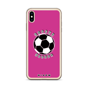 Soccer iPhone Case (Pink 5)