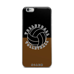 Volleyball iPhone Case (Black & Brown)