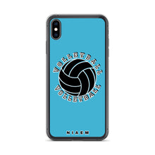 Load image into Gallery viewer, Blue volleyball iPhone XS Max phone cases
