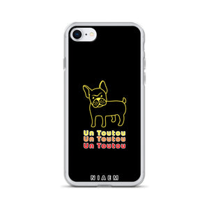 Yellow Un Toutou iPhone Case