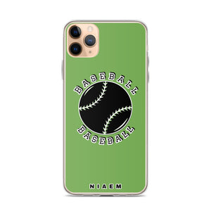 Baseball iPhone Case (Green)