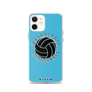 Blue volleyball iPhone 12 phone cases