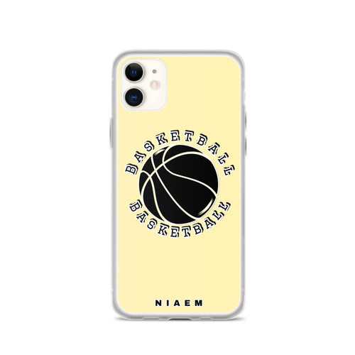 Basketball iPhone Case (Yellow 2)