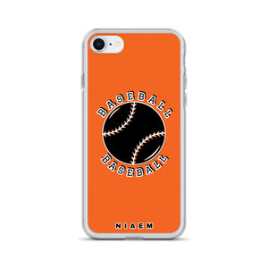 Baseball iPhone Case (Orange)