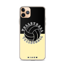 Load image into Gallery viewer, Volleyball iPhone Case (Black & Yellow 2)