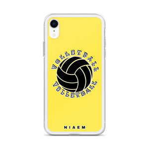 Volleyball iPhone Case (Yellow 1)
