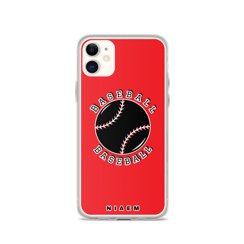 Baseball iPhone Case (Red 1)