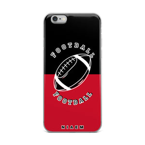 Football iPhone Case (Black & Red)