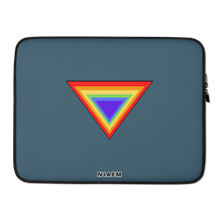 Load image into Gallery viewer, Grey Blue Triangle MacBook Laptop Sleeve