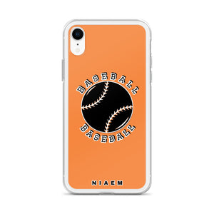 Baseball iPhone Case (Orange 1)
