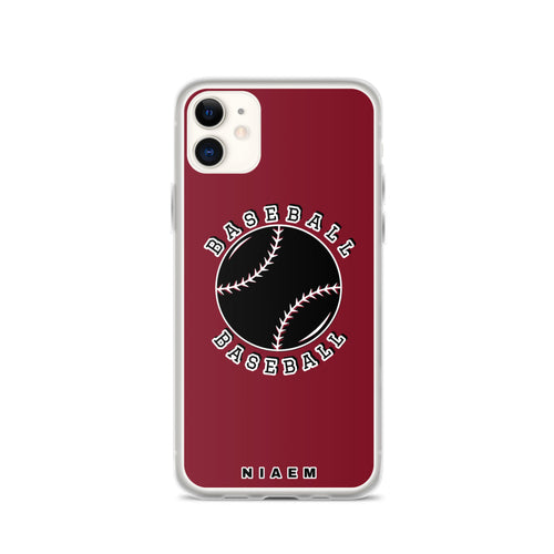 Baseball iPhone Case (Red 2)