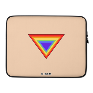 Light Tan Triangle MacBook Laptop Sleeve