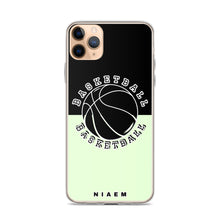 Load image into Gallery viewer, Basketball iPhone Case (Black & Green 2)