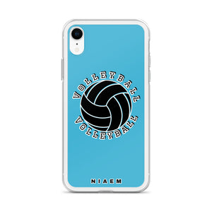 Blue volleyball iPhone XR phone cases