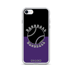 Baseball iPhone Case (Black & Purple)