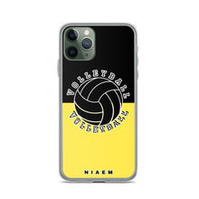 Load image into Gallery viewer, Volleyball iPhone Case (Black & Yellow 1)