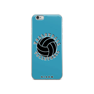 Volleyball iPhone Case (Blue)