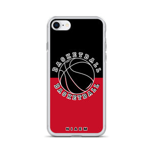 Basketball iPhone Case (Black & Red)