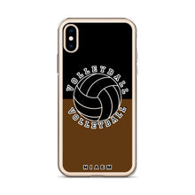 Load image into Gallery viewer, Volleyball iPhone Case (Black & Brown)