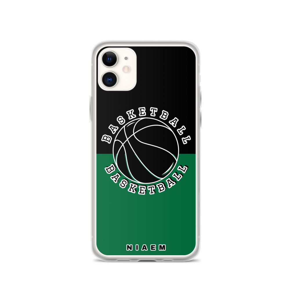 Basketball iPhone Case (Black & Green 1)