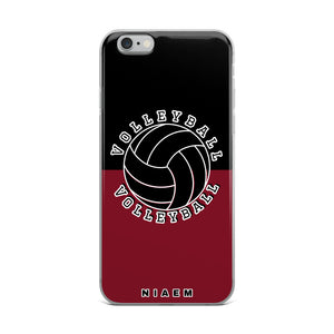 Volleyball iPhone Case (Black & Red 2)