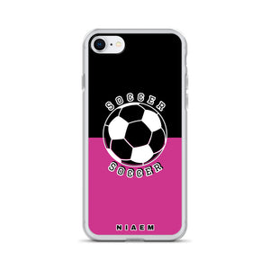 Soccer iPhone Case (Black & Pink 5)