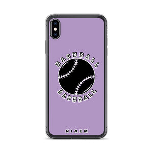 Baseball iPhone Case (Purple 2)