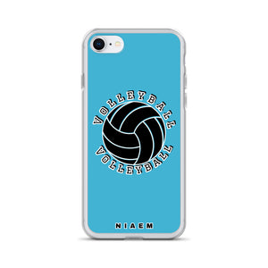 Blue volleyball iPhone 7/8 phone cases
