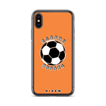 Load image into Gallery viewer, Soccer iPhone Case (Orange)