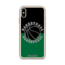 Load image into Gallery viewer, Basketball iPhone Case (Black & Green 1)
