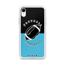 Load image into Gallery viewer, Football iPhone Case (Black & Blue 7)