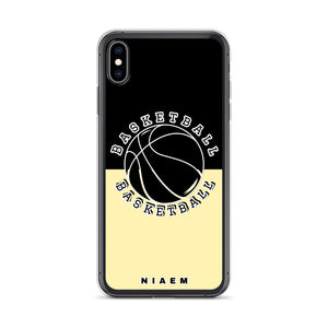 Basketball iPhone Case (Black & Yellow 2)