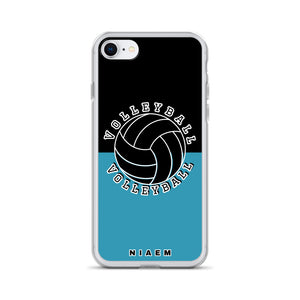 Volleyball iPhone Case (Black & Blue)