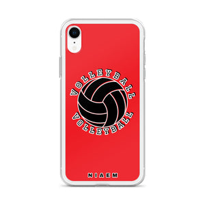 Volleyball iPhone Case (Red)