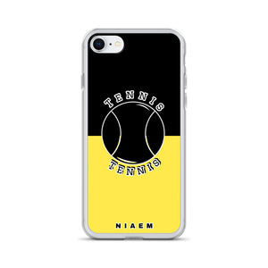 Tennis iPhone Case (Black & Yellow 1)