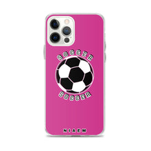 Load image into Gallery viewer, Soccer iPhone Case (Pink 5)