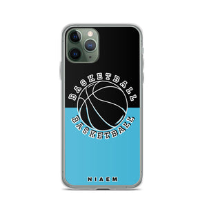 Basketball iPhone Case (Black & Blue 7)