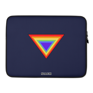 Navy Blue Triangle MacBook Laptop Sleeve